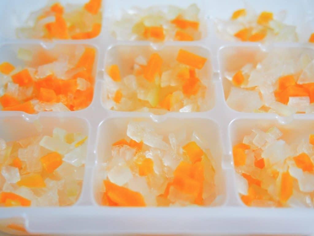 離乳食中期の調理方法1:野菜や果物