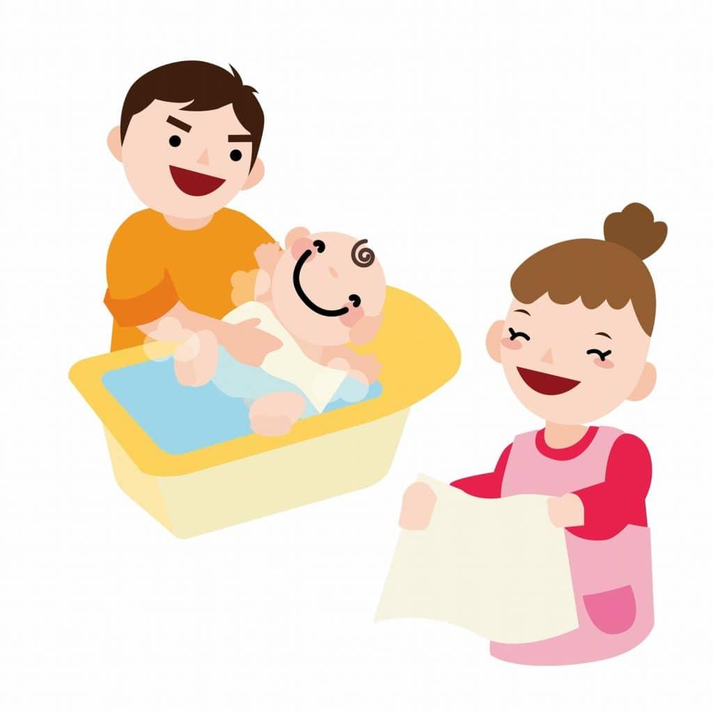ベビーバス選びのポイント3:誰が沐浴させるのか、お着換えまでの流れはどうなっているのか