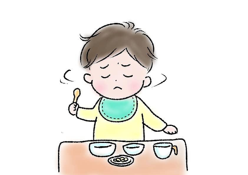 離乳食を食べない時の対策2:授乳から離乳食までの間隔を見直す