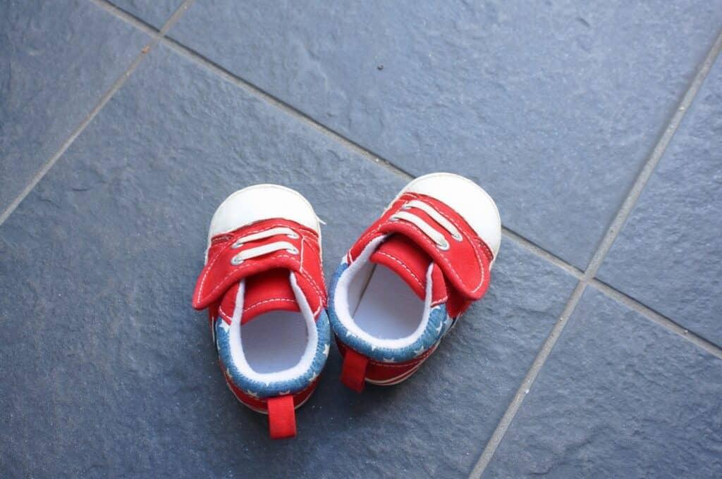 赤ちゃんの足のサイズ