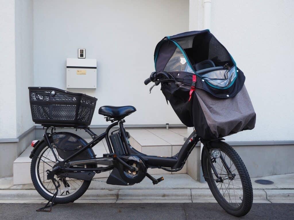 子供乗せ自転車のレインカバーはつけっぱなしにしてもいい?