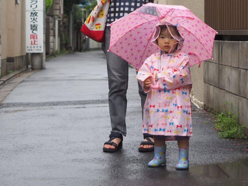 子供用レインコートで雨の日のお出かけも楽しく安全に