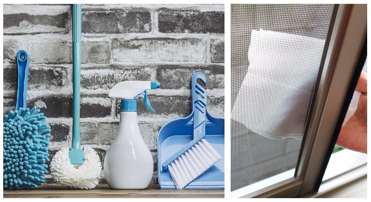 網戸掃除の基本と簡単に網戸を綺麗にできる裏ワザグッズまとめ