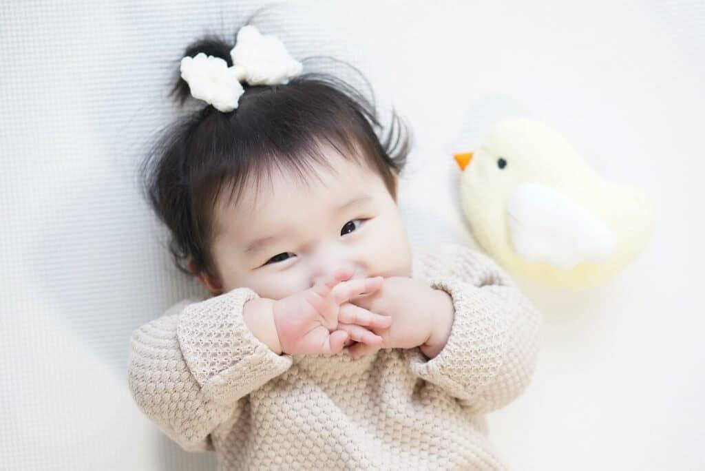 赤ちゃんの機嫌が良いときにあげる
