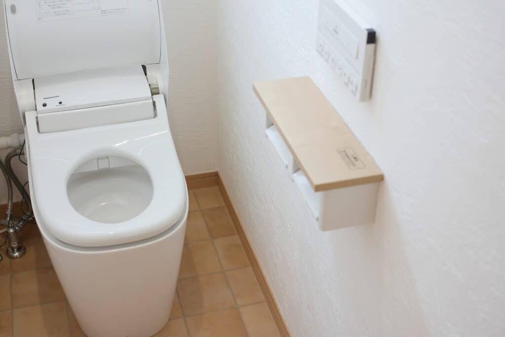 ハウスダストが溜まりやすい場所:トイレ