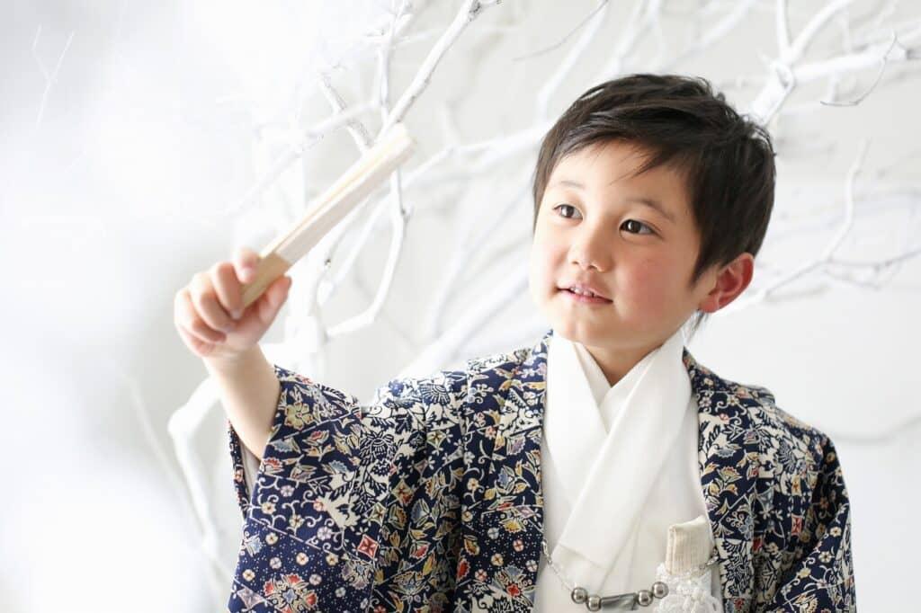 3歳男の子の七五三着物の着付け方法