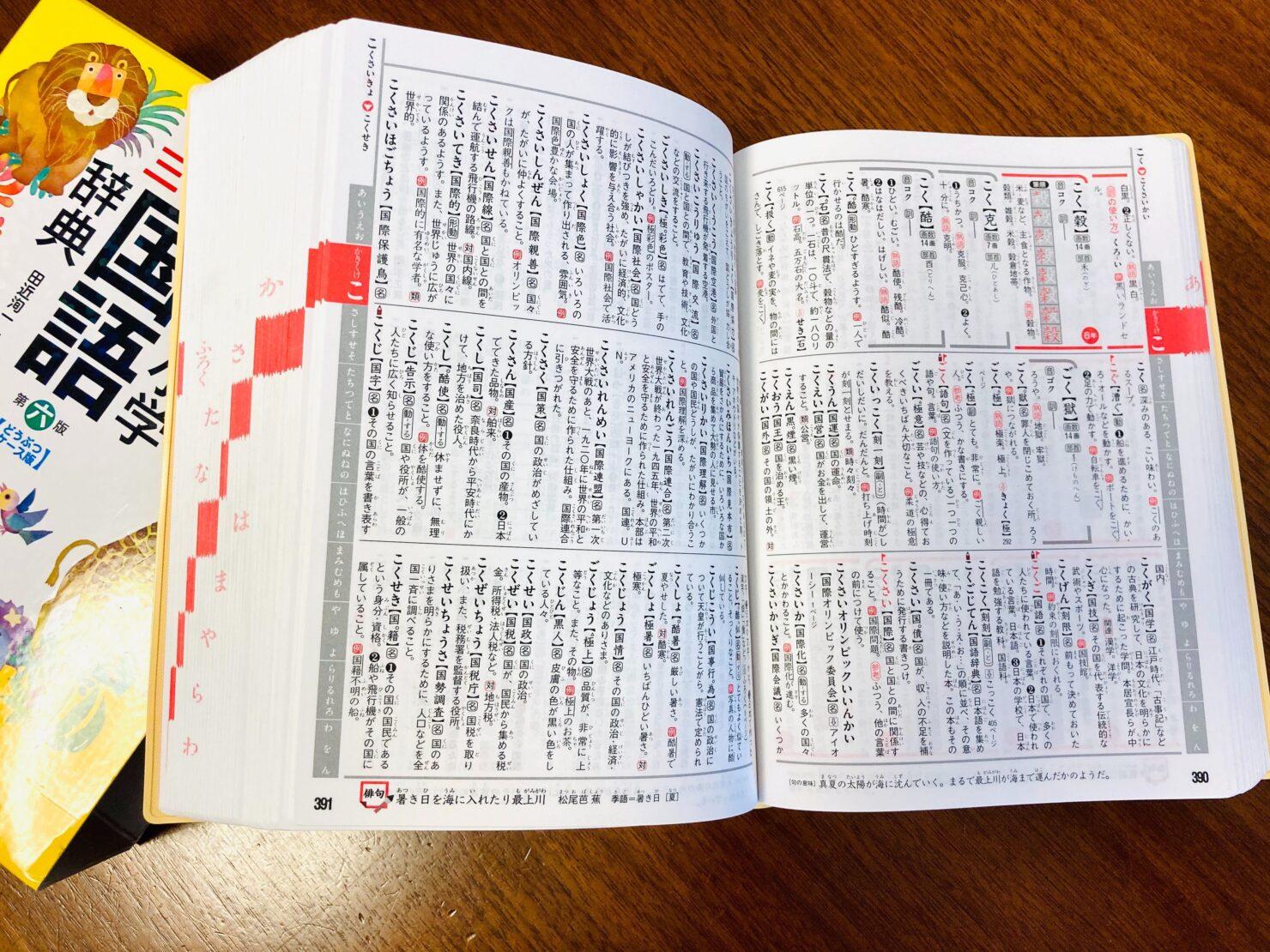 国語辞典のおすすめ11選! 小学生ママが教える選び方のコツと便利な辞書カバーとは?