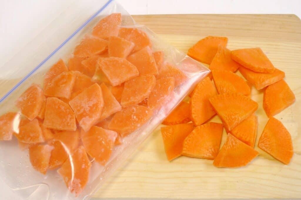 にんじんを冷凍保存する方法は?