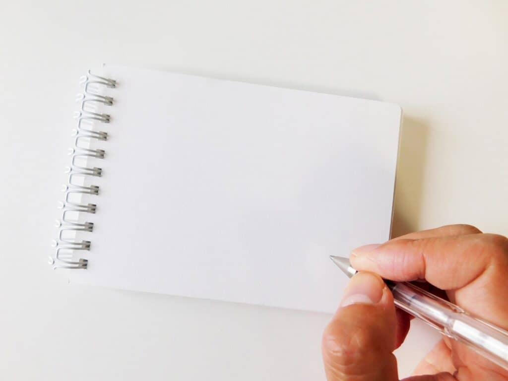 疲れている気持ちをノートに書いてみる