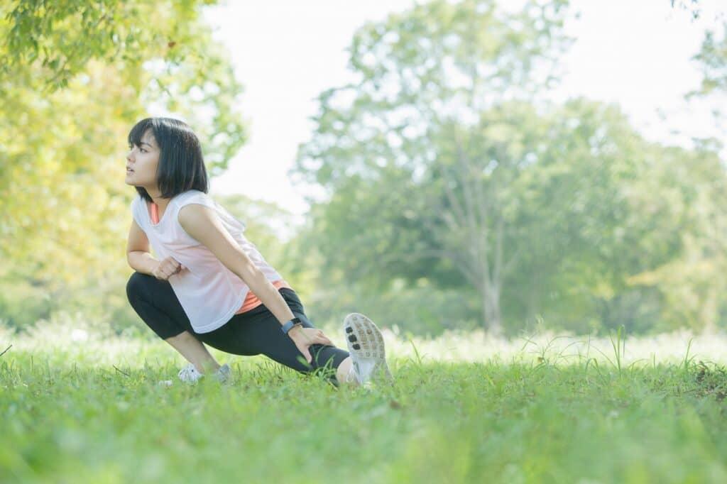 ストレッチをして体の緊張を解放する