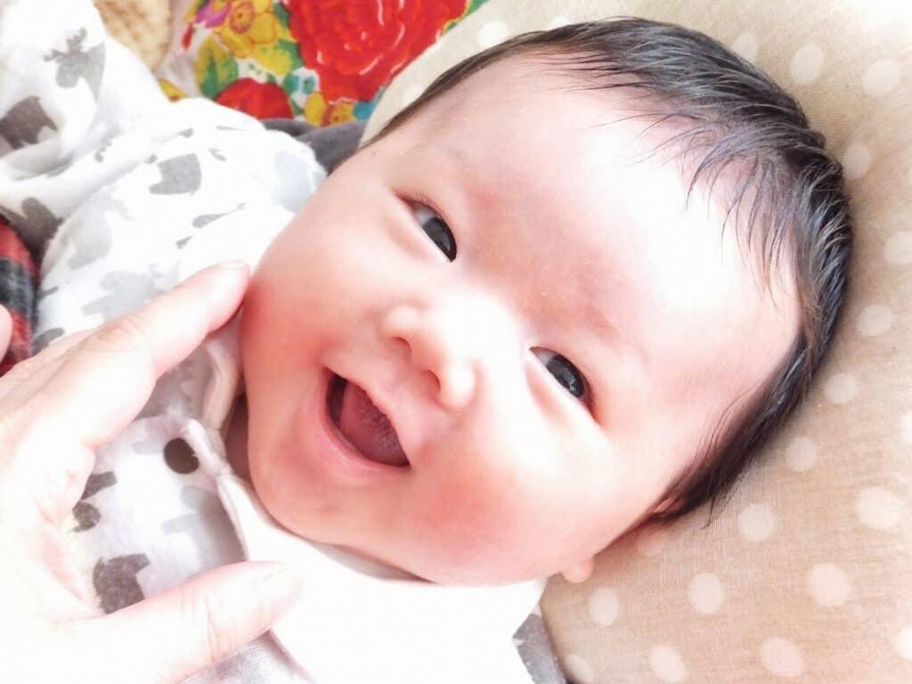 赤ちゃんが笑ってくれる