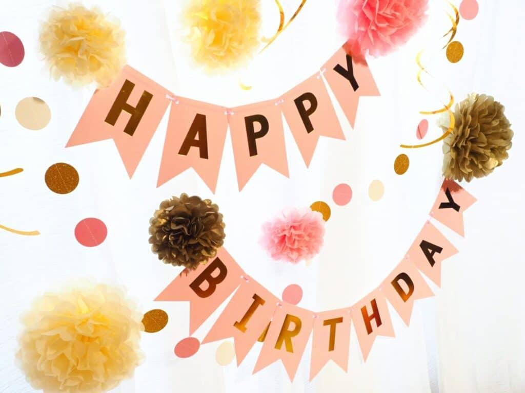 1歳の誕生日の飾り付けポイント①:写真の見栄え重視