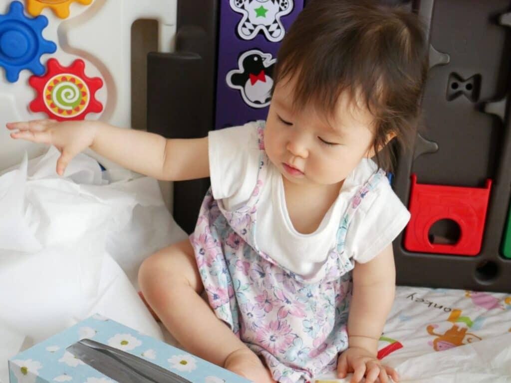 1歳の誕生日の飾り付けポイント③:子供目線に合わせる