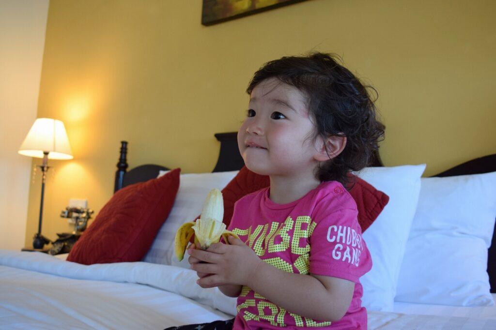 バナナは成長をサポートする栄養満点