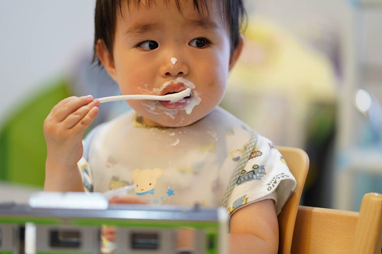 1歳の離乳食ケーキ:ヨーグルト
