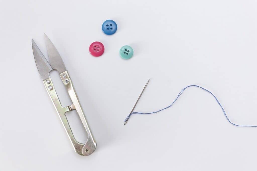 準備する折り紙の大きさ、糸の長さの目安