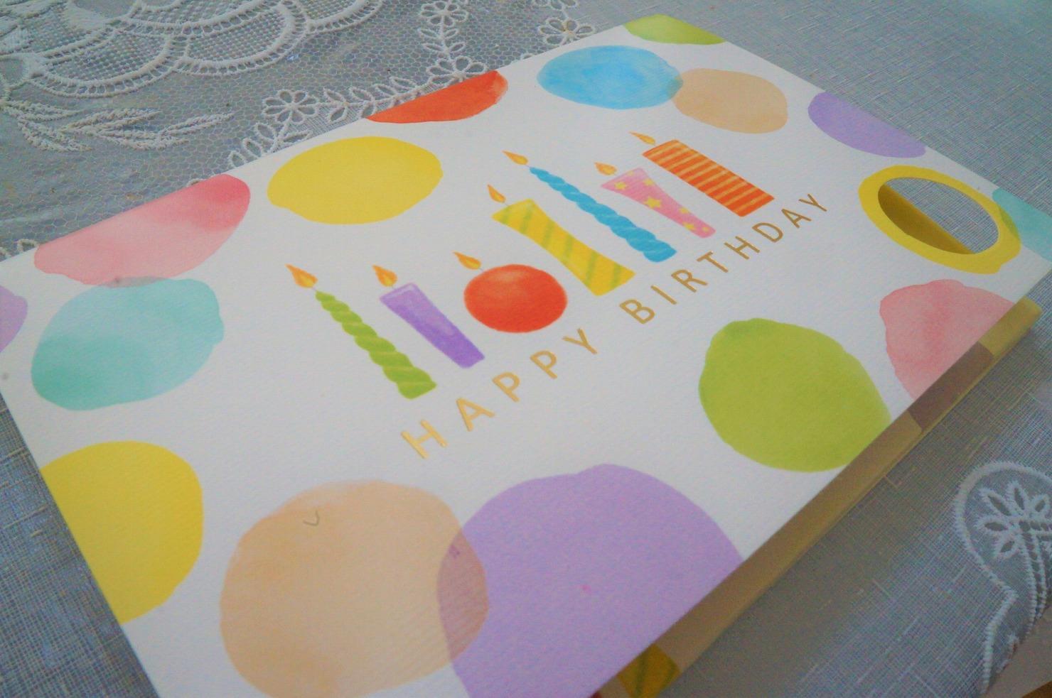 誕生日特典①:誕生日カード&メダル