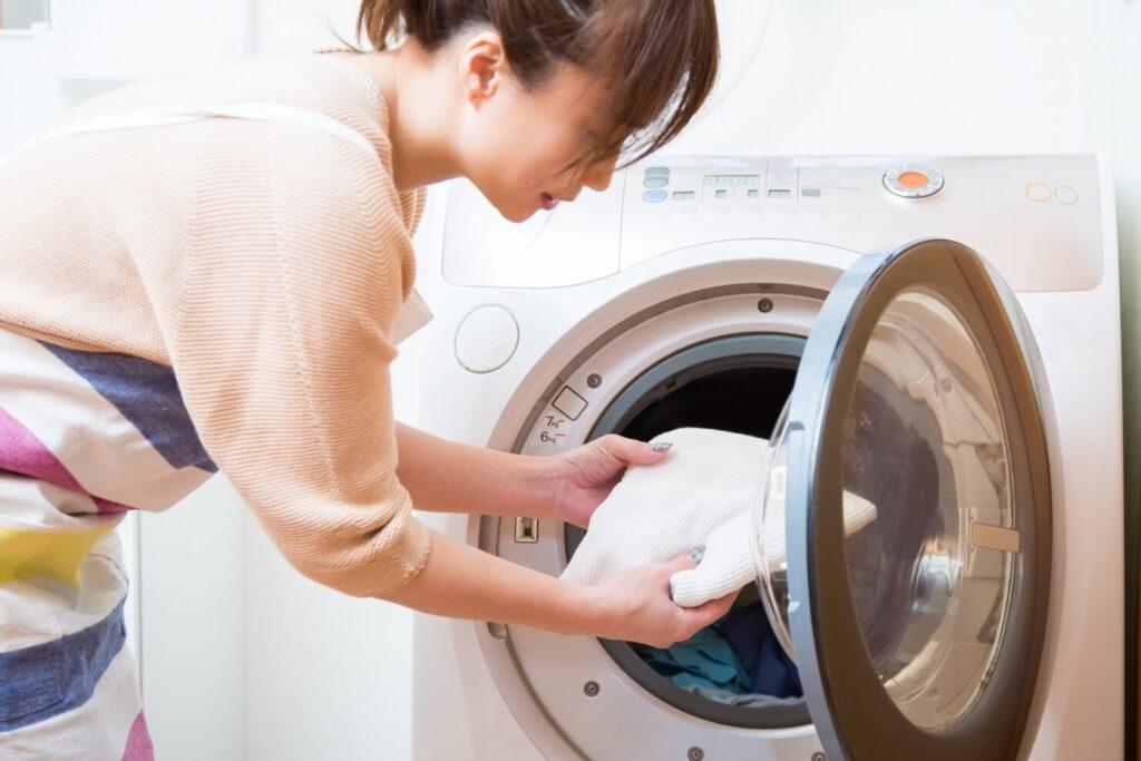 洗濯ネットに入れたまま乾燥機を使わない