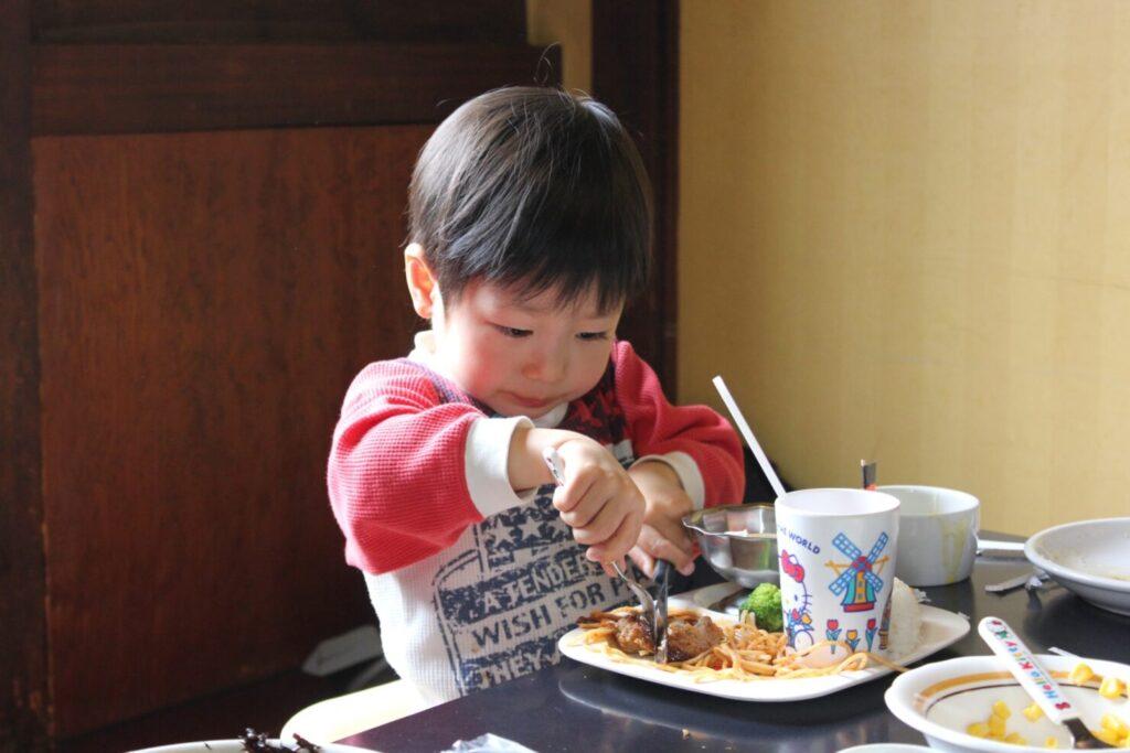 大人の食事から取り分ける