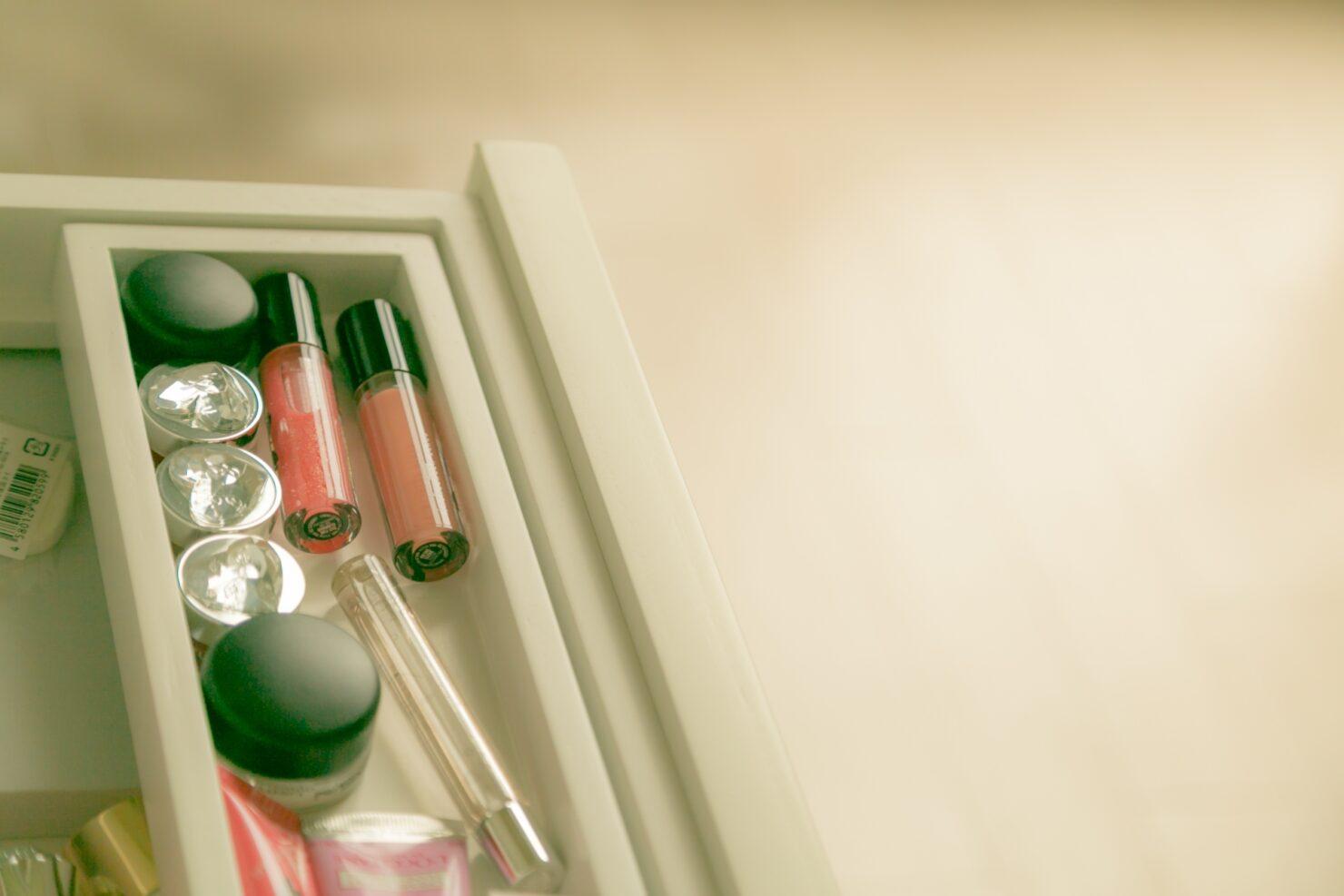 化粧品を使いやすく収納したい!